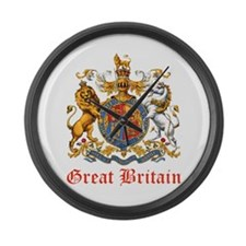 Royal Coat Of Arms Large Wall Clock