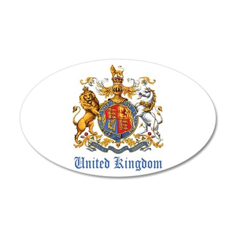Royal Coat Of Arms 35x21 Oval Wall Decal