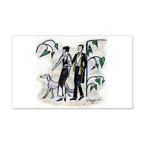 fashion figures & dog 20x12 Wall Decal