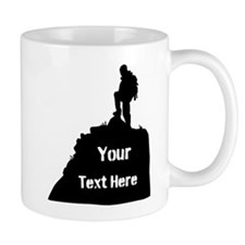 Hiking Climbing. Your Text. Mug