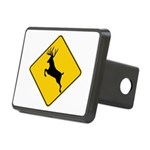 whitetail caution Rectangular Hitch Cover