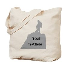 Hiking. Your Own Text. Tote Bag