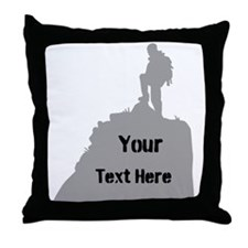 Hiking. Your Own Text. Throw Pillow