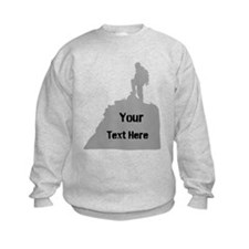 Hiking. Your Own Text. Sweatshirt