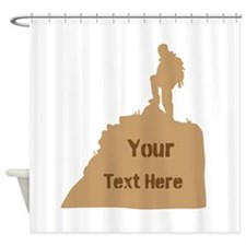 Hiking Climbing. Brown. Shower Curtain