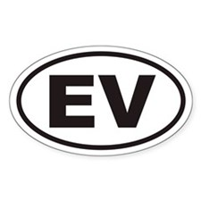 EV Electric Vehicle Euro Oval Decal