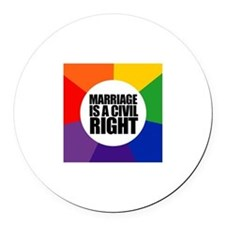 MARRIAGE / CIVIL RIGHT Round Car Magnet