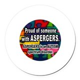asperger's Round Car Magnet