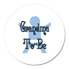 Baby Boy Grandma To Be Round Car Magnet