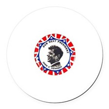 JFK - Round Car Magnet