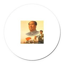 Chairman Mao Round Car Magnet