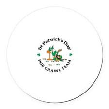 Irish Pub Crawl Team Round Car Magnet