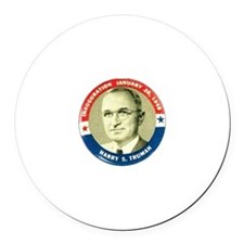 Harry Truman - Round Car Magnet