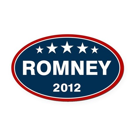 Romney 2012 [blue] Oval Car Magnet
