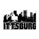 Pittsburgh Skyline Rectangle Car Magnet