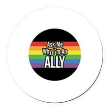 ALLY 2.25 inch Ask Me Round Car Magnet