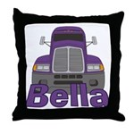 Trucker Bella Throw Pillow