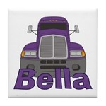 Trucker Bella Tile Coaster