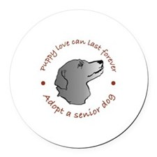 Unique Adopted dogs Round Car Magnet