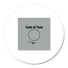 Circle of Trust Round Car Magnet
