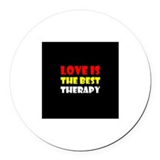 Cute Therapy dog Round Car Magnet