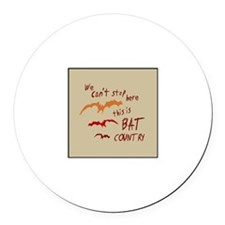 Bat Country Round Car Magnet