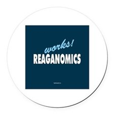 Reaganomics Works! Round Car Magnet