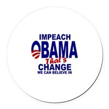 Impeach Obama Round Car Magnet