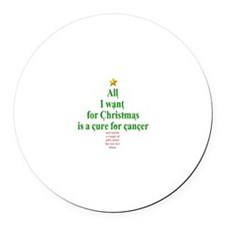 All I Want For Christmas Round Car Magnet