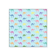 "Colorful Camel Square Sticker 3"" x 3"""