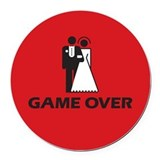 Game Over Round Car Magnet