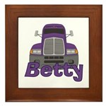 Trucker Betty Framed Tile