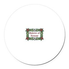 Matron of Honour Tropical Round Car Magnet