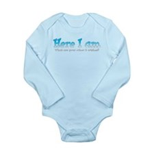 Cute Baby wish Long Sleeve Infant Bodysuit