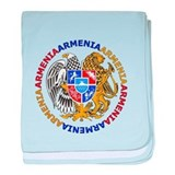 Armenian Coat of Arms baby blanket