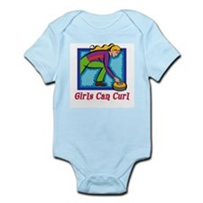 Girls Can Curl Infant Creeper