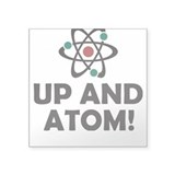 Up and Atom Square Sticker