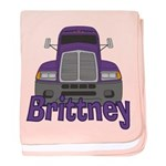 Trucker Brittney baby blanket