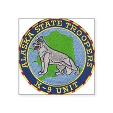 Alaska Trooper K9 Square Sticker