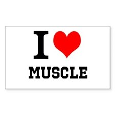 I Love Muscle Decal