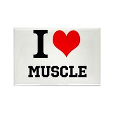 I Love Muscle Rectangle Magnet