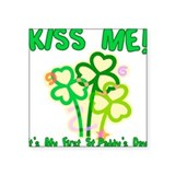 Kiss Me! Baby's First St. Pat Square Sticker