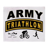 Army Triathlon Tab Throw Blanket