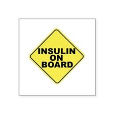 Insulin on board Square Sticker