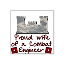 Engineer Wife-ACU Square Sticker