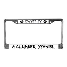 Owned by a Clumber Spaniel License Plate Frame