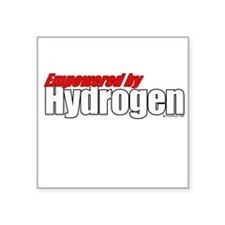 Empowered by Hydrogen Square Sticker