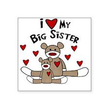 I Love My Big Sister SM Babys Square Sticker