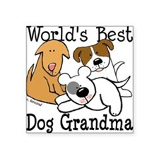 World's Best Dog Gramma Square Sticker