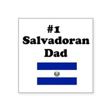 #1 Salvadoran Dad Square Sticker